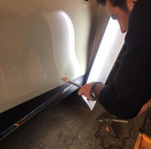 صافکاری با دستگاه ، PDR و نور