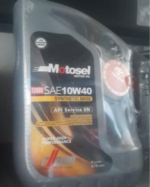 روغن موتور خودرو موتوسل مدل 10W_40 حجم 4.73 لیتر پک اصلی تویوتا